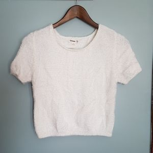Fuzzy Crop Sweater | Garage
